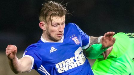 Luke Hyam is back in the Ipswich Town side and battling to earn a new contract. Picture: Steve Wa