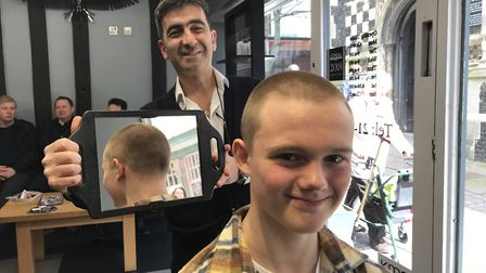 The finished hair cut. Picture: GILLIAN ALLARD.