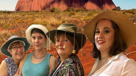 Helen Arbon as Jan, Sarah Byham as Linda, Lucy Foster as Pearl and Ali Crawley as Shelley in Ladies