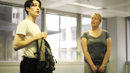 Rehearsals for the Ink Festival with Ed Jones and Janine Leigh in Spooks by Blake Morrison. Photo: S