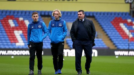 Youngsters Jonjoe Kenny (left) and Tom Davies (centre) have become Everton first-team regulars after