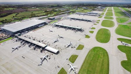 London Stansted Airport, which has reported its busiest ever March.