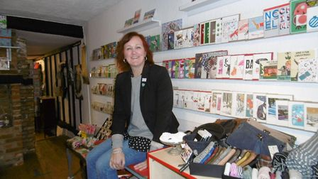 Shop owner Cathy Frost who is celebrating ten years of running Love One gift shop in St Peter's Stre