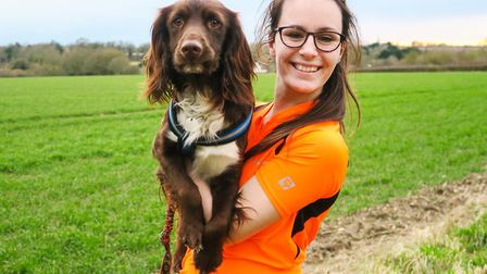 Jess Warren with her cocker spaniel Sprout
