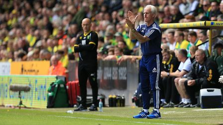 Mick McCarthy on the touchline during the Sky Bet Championship play-off, second leg , match at Carro