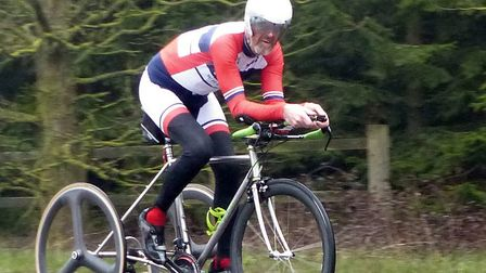 Diss CC 25 tricycle winner Lez Young (Lincoln Wheelers). Picture: FERGUS MUIR