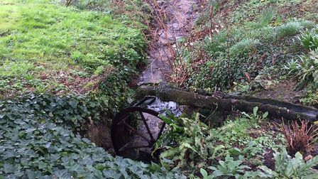 The high pond feeds into the lower one, which then joins the Blackwater which runs past the garden.