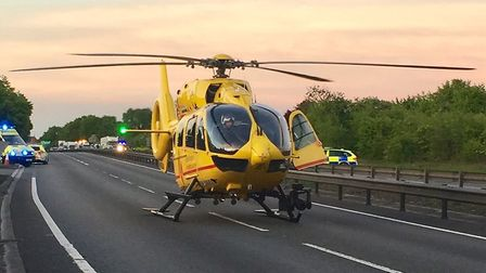The victim was taken to hospital by air ambulance (stock image). Picture: SGT COLIN SHEAD