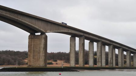 The crash happened near to the Orwell Bridge. Picture: SARAH LUCY BROWN