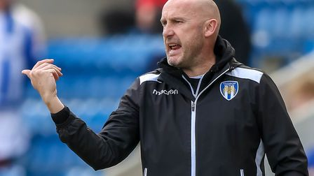 U's boss, John McGreal, pictured during the recent home defeat to leaders Accrington Stanley, who ha