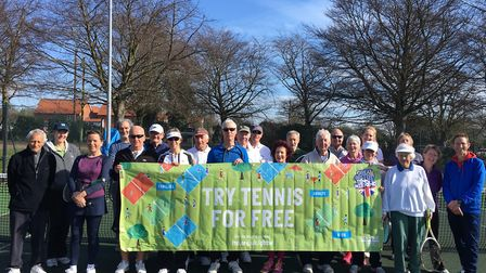 A weekend of free tennis will take place in Woodbridge in May. Picture: WOODBRIDGE TENNIS CLUB