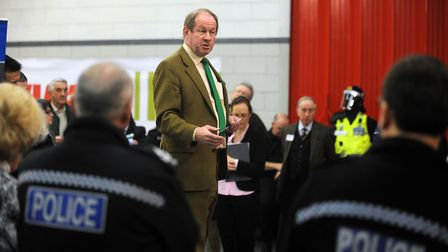 Tim Passmore speaking at the Rural Crime Conference in 2015. Picture: PHIL MORLEY