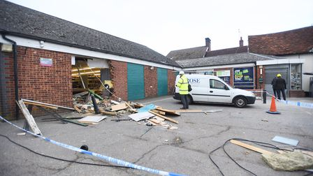 The scene of a recent ram raid in the early hours of the morning at the Co-op in Debenham. Picture: