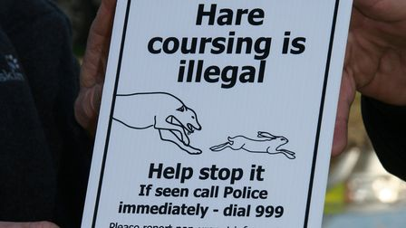 An anti-hare coursing sign