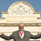 Harwich Mayor John Brown outside the Electric Palace Cinema, which has just received a major cash bo