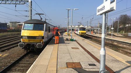 Greater Anglia warned passengers to expect delays. Picture: PAUL GEATER