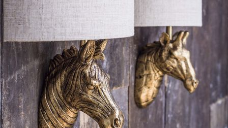 Gold Zebra Wall Light With Shade, Graham & Green. Picture: PA Photo