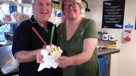 The Hardy's who run I Scream in Ipswich which has just moved premises. Picture: Charlotte Smith-Jarv
