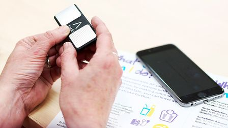 The AliveCor device used to measure heart rhythm. Picture JULIAN CLAXTON