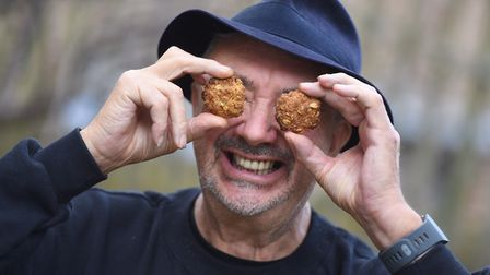 Don Quinn is celebrating the Colchester Priory Biscuit. Picture: GREGG BROWN