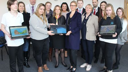 Pupils at Priory School in Bury St Edmunds have received new tablets. Picture: GOODERHAM PR