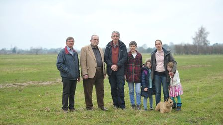 Hundreds of people have objected to plans for 110 homes off Grange Road in Lawford. From left: Robe