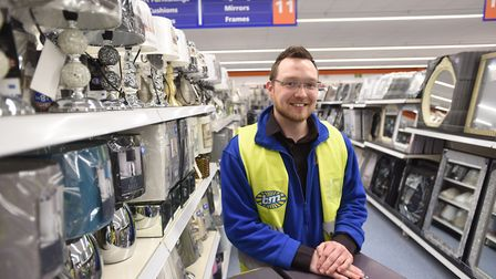Behind the scenes at B&M Home Store in Bury St Edmunds. Pictured is store manager Lewis Wilding. Pic