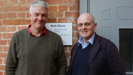 Mark Nowell and Hugh Crabtree of Dicam Technology in Halesworth. Picture: SARAH CHAMBERS