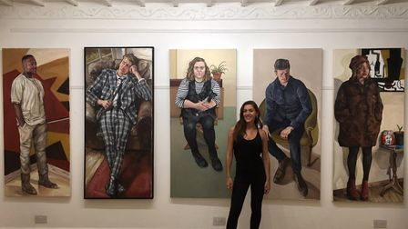 Artist Ania Hobson pictured with some of her work. Photo: Ania Hobson