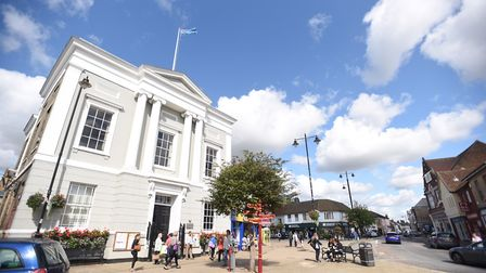 Sudbury Town Hall, where Babergh has set up an access pointl. Picture: GREGG BROWN