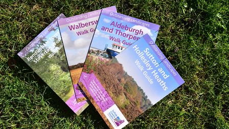 Walking guides for the AONB allow people to explore the landscape. Picture: SARAH LUCY BROWN
