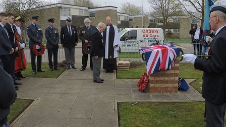 The rededication of the Luke Southgate memorial
