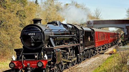 Black Five near Whitchurch. Picture: TONY BARTLETT