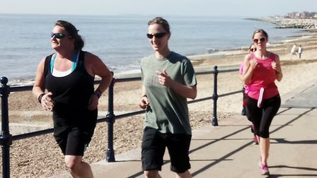 Runners, joggers and walkers were all welcome at Saturday's Felixstowe parkrun, held in warm sunshin