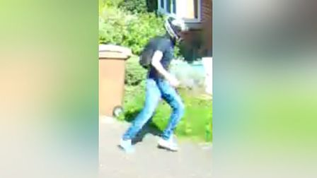 The motorcyclist police in Essex want to trace in connection with a PCSO's foot being run over