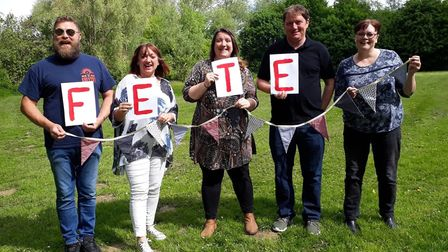 Members of Ballingdon fete committee on Kone Vale where the first ever Ballingdon fete will be held