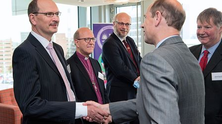 Ipswich MP Sandy Martin, Bishop Martin Seeley and CEO Ipswich Borough Russell Williams were among th
