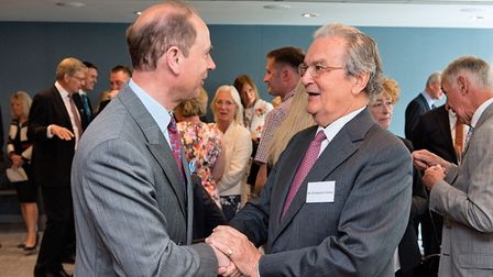 Sir Christopher Howes meets Prince Edward. Picture: SIMON LEE