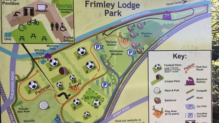 Frimley Lodge Park, the venue for the weekly Frimley Lodge parkrun since February, 2010