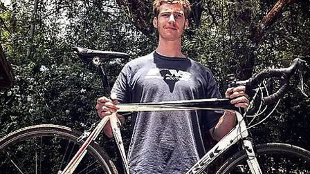 Alex Mann, 23, from Suffolk, is cycling 6,000km from Nairobi to Cape Town for two charities. Pictur
