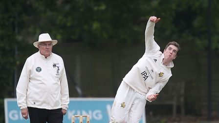 Josh Cantrell, who took three for 21 off his 10 overs in Suffolk's three-wicket win over Buckinghams