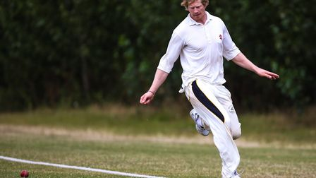 Joe Reed, fielding on the boundary edge, scored an unbeaten 109 as Mildenhall eased to victory over