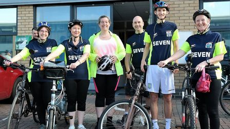 The six-strong Headway Suffolk team. Picture: CEDRIC FAIRWEATHER