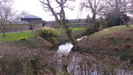 The river moat seen on the Stour Valley walk. Picture: CHRIS BARKER