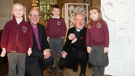 Caption: The Rev Canon Joe Hawes, right, who will become the new Dean of St Edmundsbury this summer