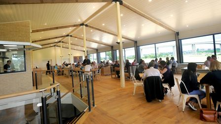 Diners at the Cookhouse restaurant at Suffolk Food Hall. Picture: SU ANDERSON