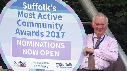 Tony Goldson promoting Suffolk's Most Active County aspiration. Picture: SUFFOLK COUNTY COUNCIL