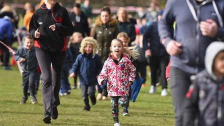 The Daily Mile at Wells Hall Primary School. Picture: GREGG BROWN