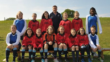 Year 8 girls. Picture: SARAH LUCY BROWN