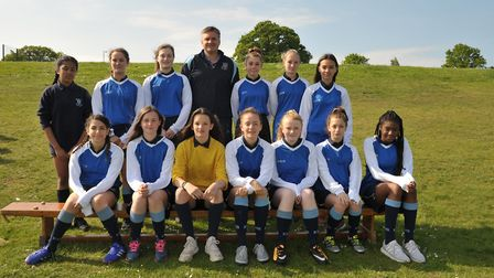 Year 9 girls. Picture: SARAH LUCY BROWN